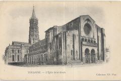 - 1 - Toulouse - L'église Saint Sernin - dos uni 01