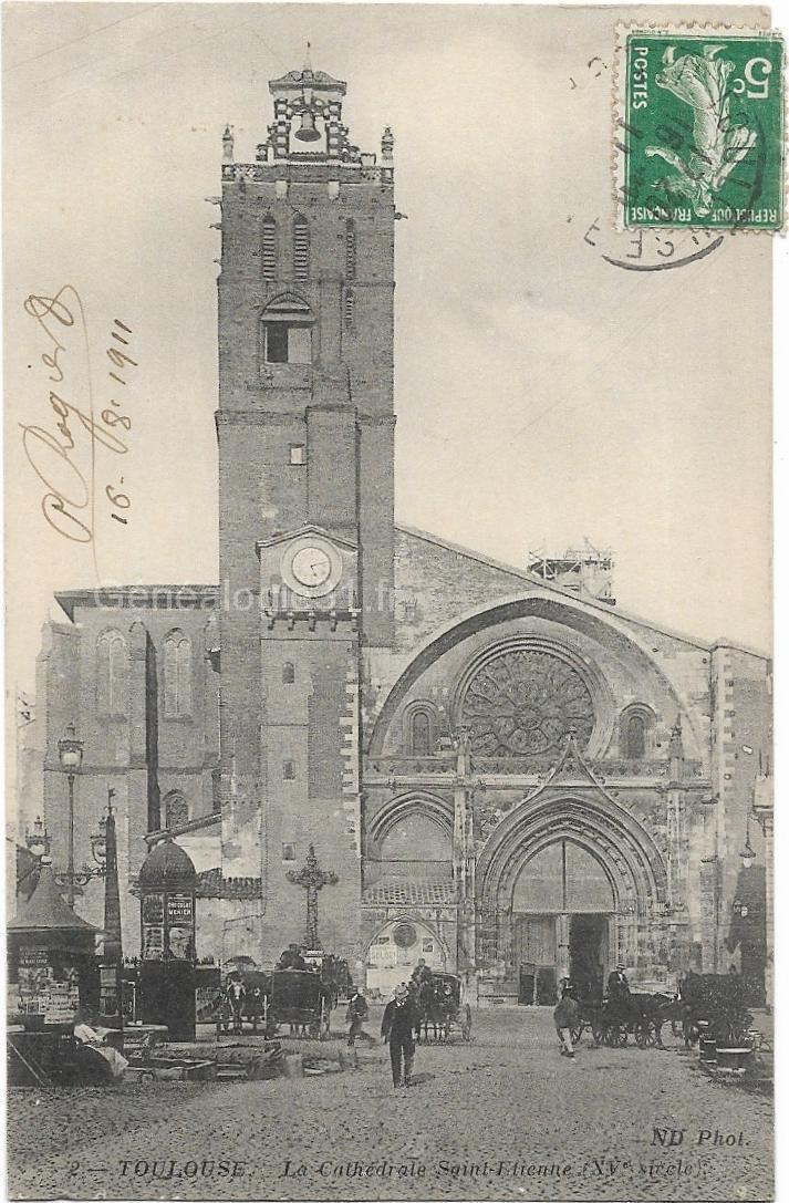 2 - Toulouse - La cathédrale, église saint Etienne  - dos 4